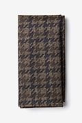 Brown Cotton Chandler Pocket Square