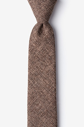 _Galveston Brown Skinny Tie_