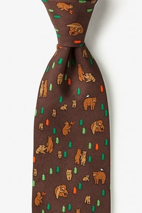 _Bear Necessities Brown Tie_