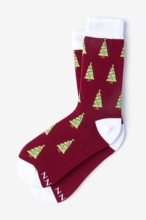 _Tinsel Toes Burgundy Women's Sock_