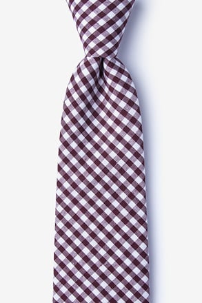Clayton Burgundy Extra Long Tie