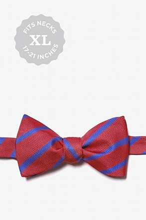 Balboa Red Stripe Self Tie Bow Tie
