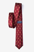 Lawyer Tie Burgundy Skinny Tie Photo (1)