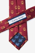 Lawyer Tie Burgundy Skinny Tie Photo (2)