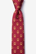 Lawyer Tie Burgundy Skinny Tie Photo (0)