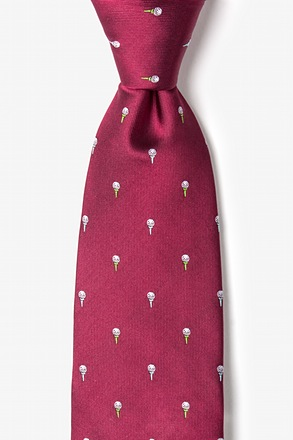 Oh, the Possibili-tees Burgundy Tie