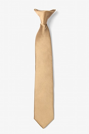 Butterscotch Clip-on Tie For Boys