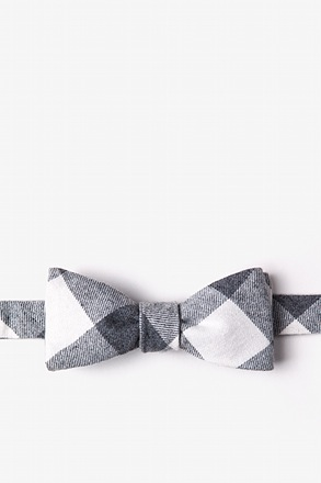 Kent Charcoal Skinny Bow Tie