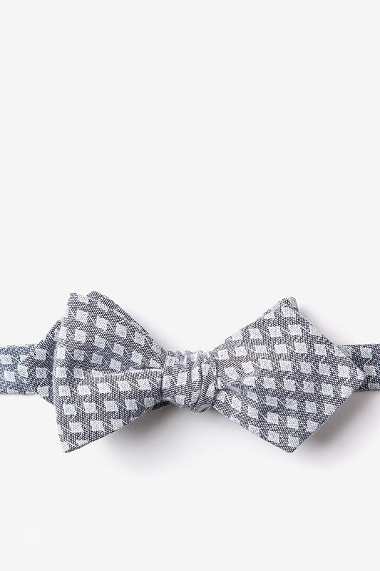 Poway Charcoal Diamond Tip Bow Tie Photo (0)