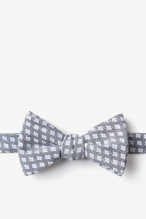 Poway Charcoal Self-Tie Bow Tie