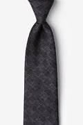 Charcoal Cotton Prescott Extra Long Tie