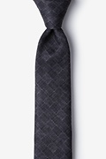 Prescott Charcoal Skinny Tie Photo (0)