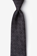 Charcoal Cotton Prescott Tie