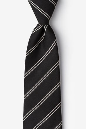 Seagoville Charcoal Extra Long Tie