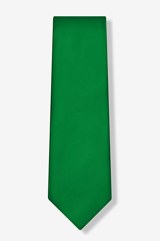 Christmas Green Extra Long Tie Photo (1)