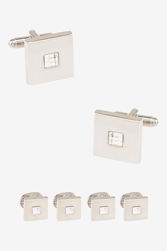Front and Center Clear Cufflink & Stud Set Photo (0)