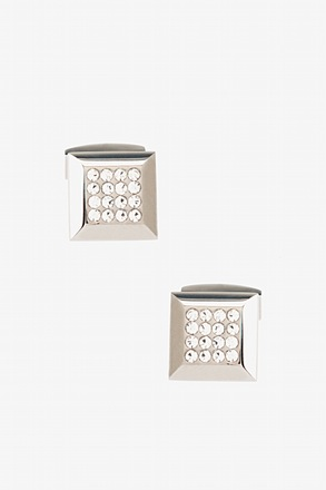 Trilby Gem Clear Cufflinks
