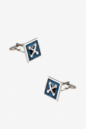 Square Button Cobalt Cufflinks