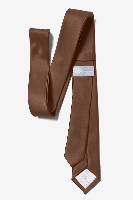 "Cocoa Brown 3"" Skinny Tie"