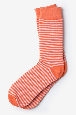 Seal Beach Stripe Coral Sock