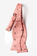 Anchors & Ships Wheels Coral Self-Tie Bow Tie Photo (1)