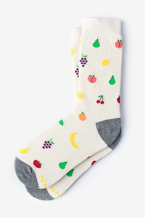 _Mixed Fruit Cream Women's Sock_