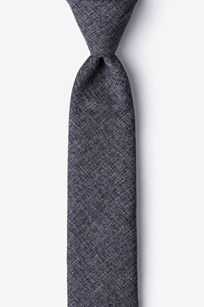 _Galveston Dark Gray Skinny Tie_