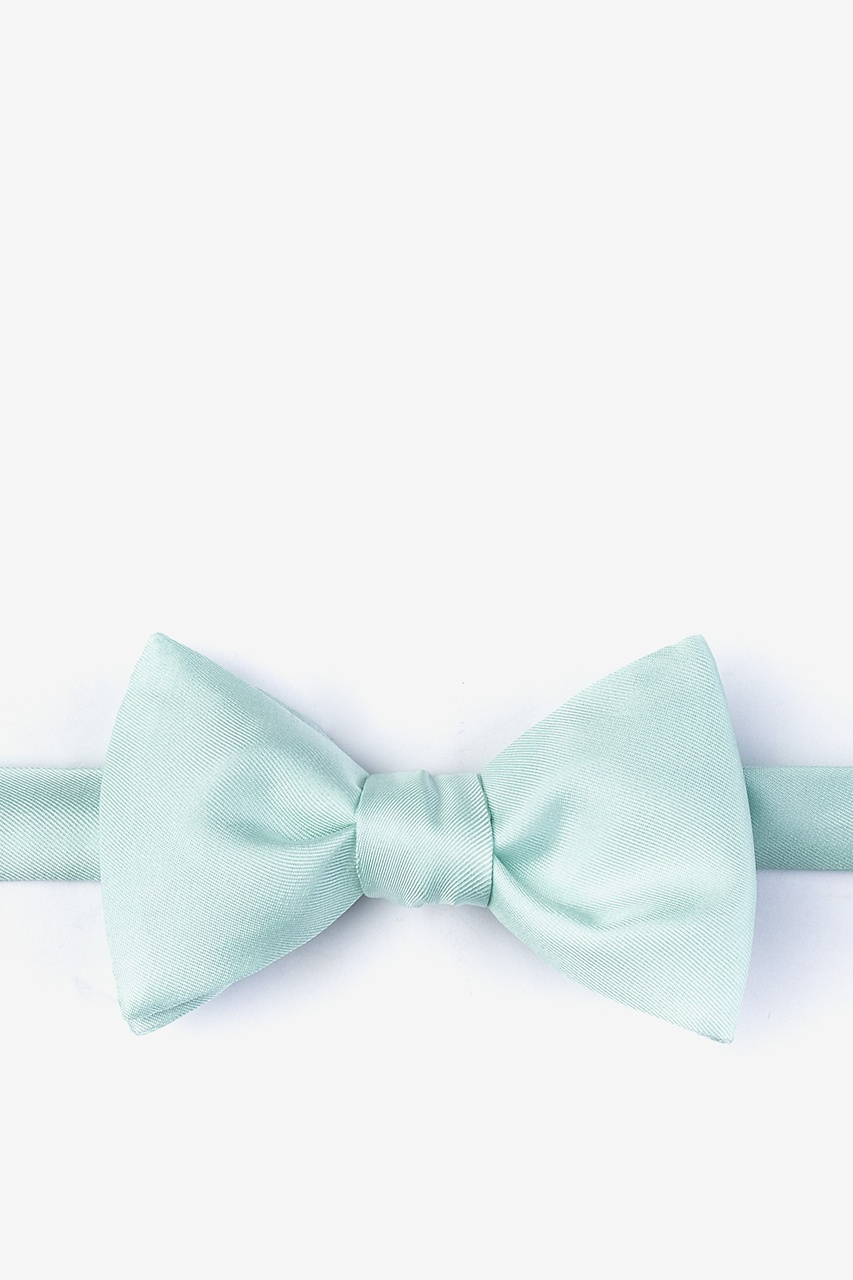 Dusty Mint Self-Tie Bow Tie Photo (0)