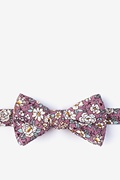 Dusty Rose Cotton Brook Self-Tie Bow Tie