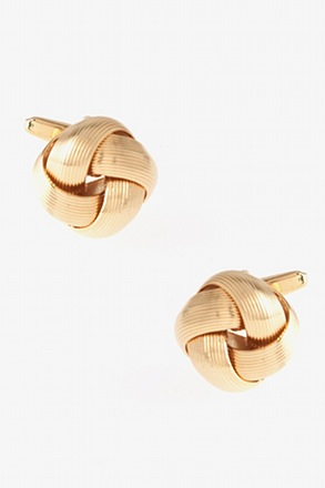 _Big Intricate Knot Gold Cufflinks_