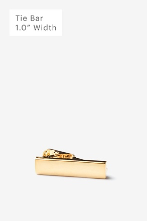_Chrome Curved Gold Tie Bar_