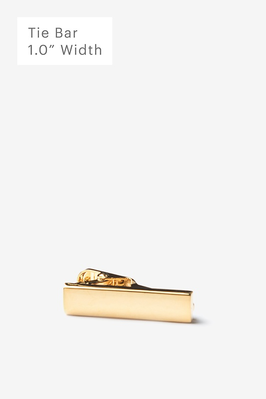 Chrome Curved Gold Tie Bar Photo (0)