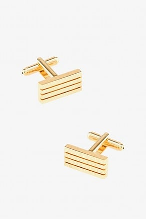 _Horizontal Bar Gold Cufflinks_