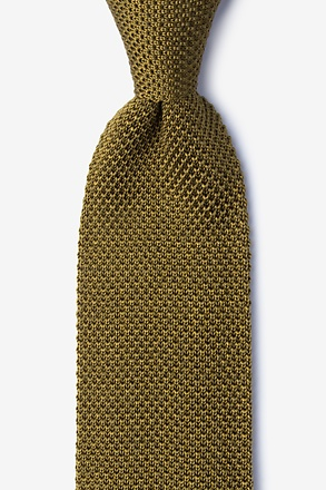 _Classic Solid Gold Knit Tie_