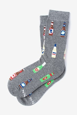 _Beer Me Gray Women's Sock_