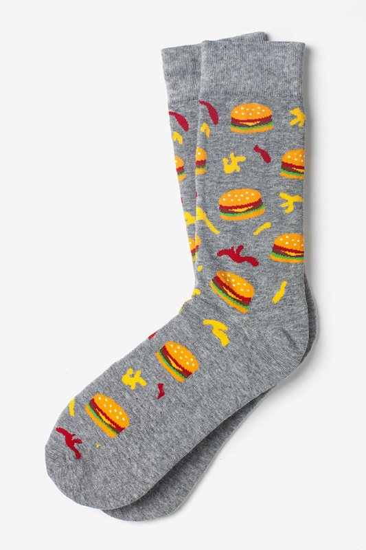 Hamburger Gray Sock Photo (0)
