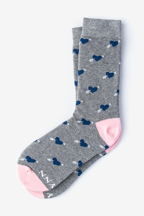 Head Over Heels Gray Women's Sock