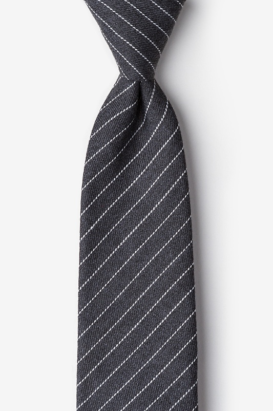 Lewisville Gray Extra Long Tie Photo (0)
