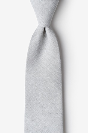 Tioga Gray Extra Long Tie