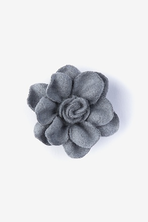 _Begonia Gray Lapel Pin_