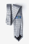 QWERTY Keyboard 2.0 Gray Extra Long Tie Photo (1)