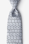 QWERTY Keyboard 2.0 Gray Extra Long Tie Photo (0)