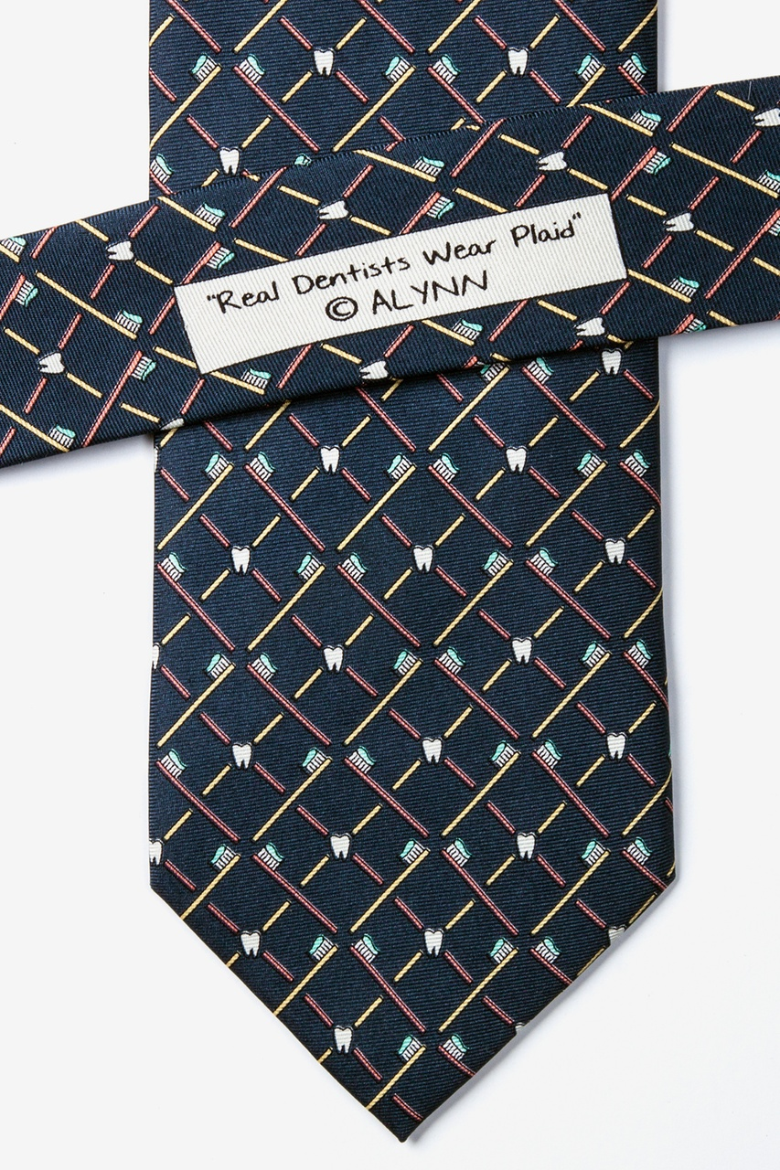 Real Dentists Wear Plaid Gray Tie Photo (3)