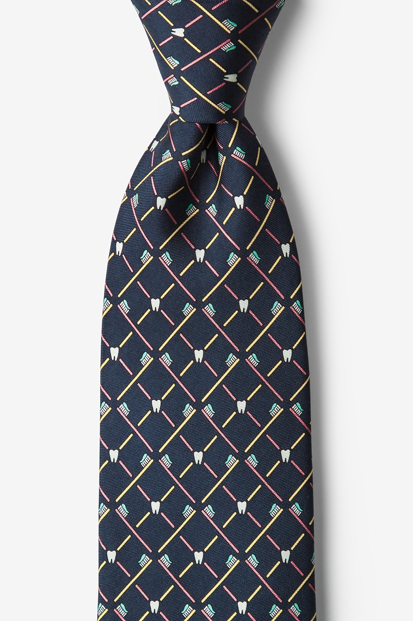 Real Dentists Wear Plaid Gray Tie Photo (0)