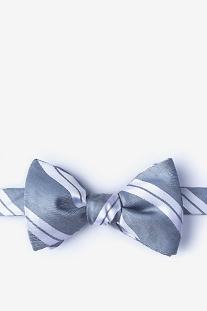 Wales Gray Self-Tie Bow Tie