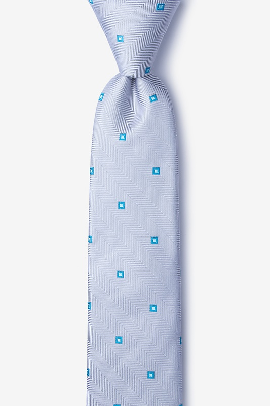 Wooley Gray Skinny Tie Photo (0)