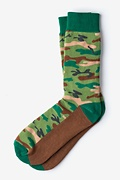 Camouflage Green Sock Photo (0)