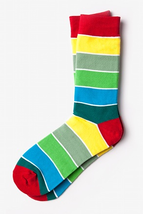 Cypress Stripe Green Sock