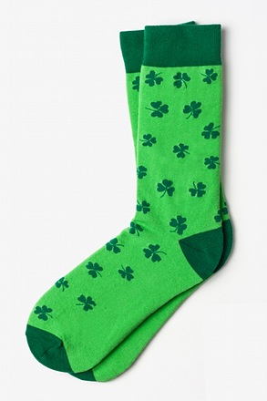 Lucky Shamrock Green Sock