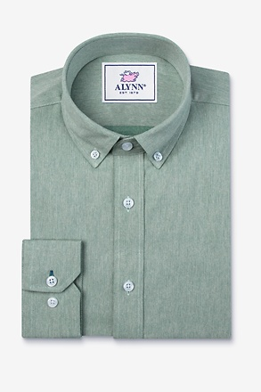 Caden Green Slim Fit Casual Shirt